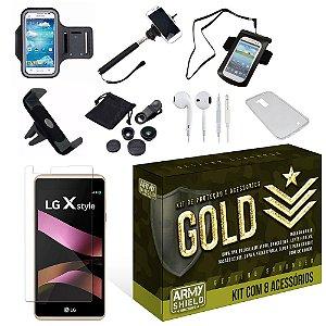 Kit Gold LG X Style com 8 Itens - Armyshield