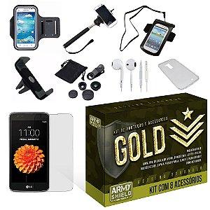 Kit Gold LG K7 com 8 Itens - Armyshield