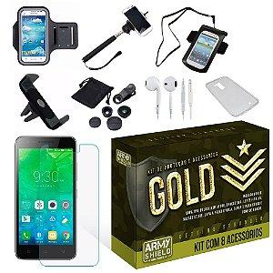 Kit Gold Lenovo Vibe C2 com 8 Itens - Armyshield