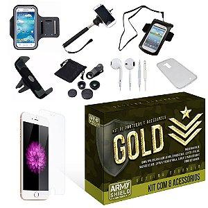 Kit Gold Apple Iphone 6 Plus/6S Plus com 8 Itens - Armyshield