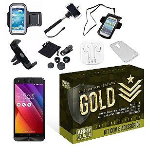 Kit Gold Asus Zenfone Selfie ZD551KL com 8 Itens - Armyshield