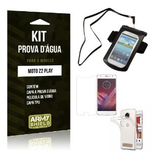 Kit Capa a prova d'agua Motorola Moto Z2 Play Película de Vidro + Tpu + Capa a prova d'agua - Armyshield