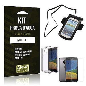 Kit Capa a prova d'agua Motorola Moto E4 Película de Vidro + Tpu + Capa a prova d'agua - Armyshield