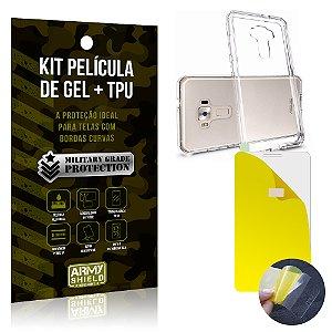 Kit Película de Gel + Capa TPU Asus Zenfone 3 - 5.2' ZE520KL  - Armyshield