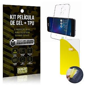 Kit Película de Gel + Capa TPU Asus Zenfone 3 Max - 5.2' ZC520TL  - Armyshield