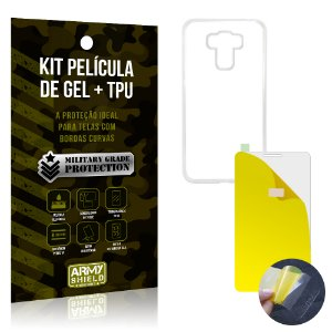 Kit Película de Gel + Capa TPU Asus Zenfone 3 Max - 5.5' ZC553KL  - Armyshield