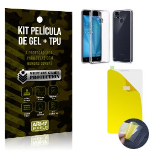 Kit Película de Gel + Capa TPU Asus Zenfone 3 Zoom - ZE553KL  - Armyshield