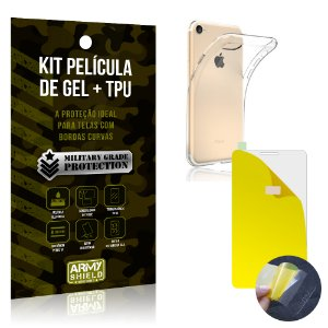 Kit Película de Gel + Capa TPU Apple iPhone 7  - Armyshield
