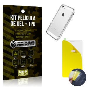 Kit Película de Gel + Capa TPU Apple iPhone 5 - 5S - 5SE  - Armyshield