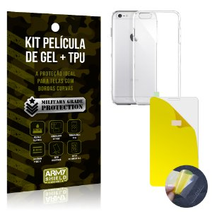 Kit Película de Gel + Capa TPU Apple iPhone 6 - 6S  - Armyshield