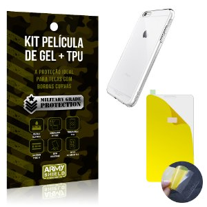 Kit Película de Gel + Capa TPU Apple iPhone 6 Plus - 6S Plus  - Armyshield