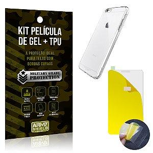 Kit Película de Gel + Capa TPU Apple iPhone 6 Plus - 6S Plus  - Armyshield