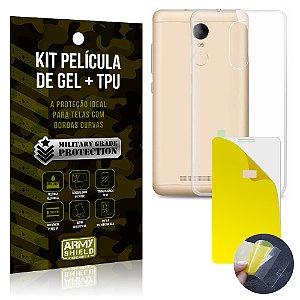 Kit Película de Gel + Capa TPU Lenovo K6  - Armyshield