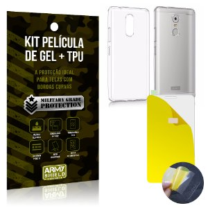 Kit Película de Gel + Capa TPU Lenovo K6 Plus  - Armyshield