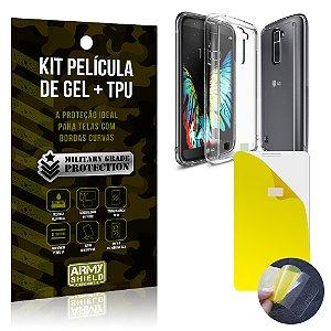 Kit Película de Gel + Capa TPU LG K10  - Armyshield