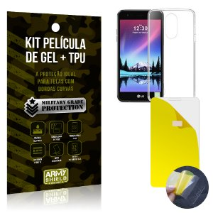 Kit Película de Gel + Capa TPU LG K4 Novo  - Armyshield