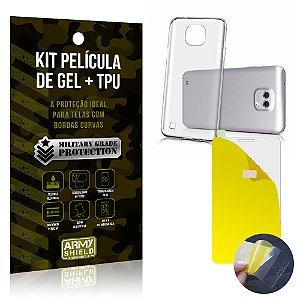 Kit Película de Gel + Capa TPU LG X Cam  - Armyshield