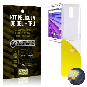Kit Película de Gel + Capa TPU Motorola Moto G3  - Armyshield