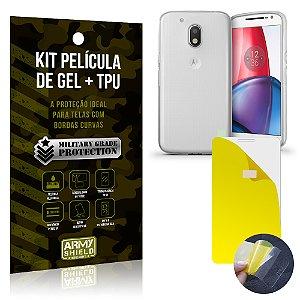 Kit Película de Gel + Capa TPU Motorola Moto G4  - Armyshield