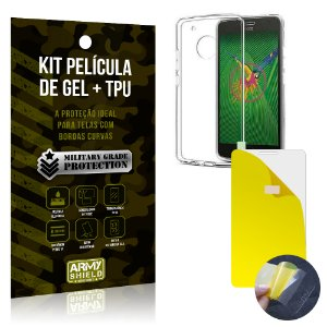 Kit Película de Gel + Capa TPU Motorola Moto G5  - Armyshield