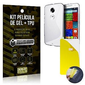 Kit Película de Gel + Capa TPU Motorola Moto X 2  - Armyshield