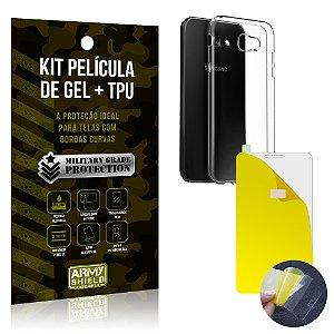 Kit Película de Gel + Capa TPU Samsung Galaxy A3 (2017)  - Armyshield