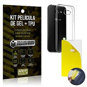Kit Película de Gel + Capa TPU Samsung Galaxy A7 (2017)  - Armyshield
