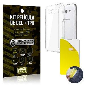 Kit Película de Gel + Capa TPU Samsung Galaxy Gran Prime  - Armyshield