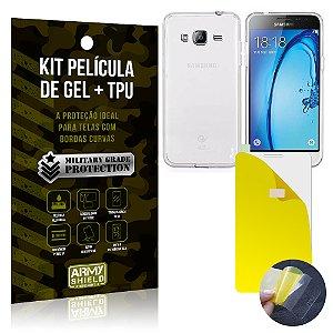Kit Película de Gel + Capa TPU Samsung Galaxy J3 (2015)  - Armyshield