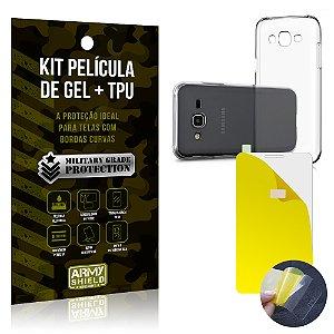 Kit Película de Gel + Capa TPU Samsung Galaxy J5 (2015)  - Armyshield
