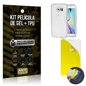 Kit Película de Gel + Capa TPU Samsung Galaxy S6  - Armyshield