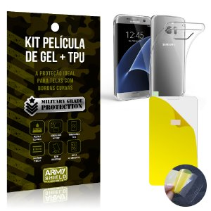 Kit Película de Gel + Capa TPU Samsung Galaxy S7 Edge  - Armyshield