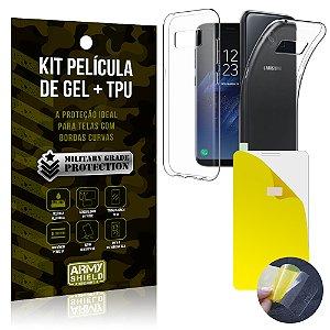 Kit Película de Gel + Capa TPU Samsung Galaxy S8  - Armyshield