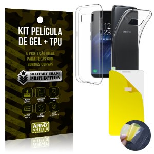 Kit Película de Gel + Capa TPU Samsung Galaxy S8 Plus  - Armyshield