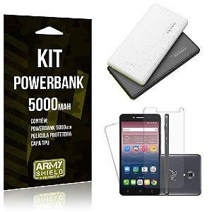 Kit Powerbank 5000 Alcatel Pixi 4 - 5.0' Powerbank + Película + Capa  - Armyshield