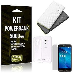 Kit Powerbank 5000 Asus Zenfone Selfie ZD551KL Powerbank + Película + Capa  - Armyshield