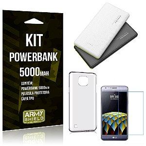 Kit Powerbank 5000 LG X Cam Powerbank + Película + Capa  - Armyshield