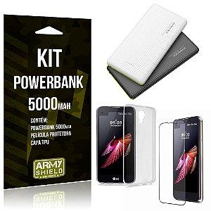 Kit Powerbank 5000 LG X Screen Powerbank + Película + Capa  - Armyshield