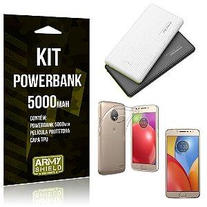 Kit Powerbank 5000 Motorola Moto E4 Plus Powerbank + Película + Capa  - Armyshield