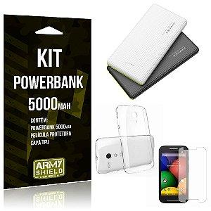 Kit Powerbank 5000 Motorola Moto G2 Powerbank + Película + Capa  - Armyshield
