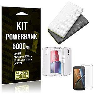 Kit Powerbank 5000 Motorola Moto G4 Powerbank + Película + Capa  - Armyshield