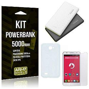 Kit Powerbank 5000 Positivo S550 Powerbank + Película + Capa  - Armyshield