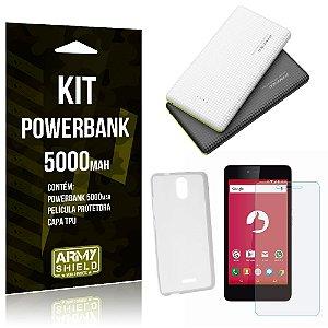 Kit Powerbank 5000 Positivo Twist S520 Powerbank + Película + Capa  - Armyshield