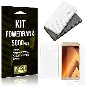 Kit Powerbank 5000 Samsung Galaxy A3 (2017) Powerbank + Película + Capa  - Armyshield
