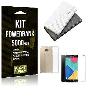 Kit Powerbank 5000 Samsung Galaxy A5 (2016) Powerbank + Película + Capa  - Armyshield