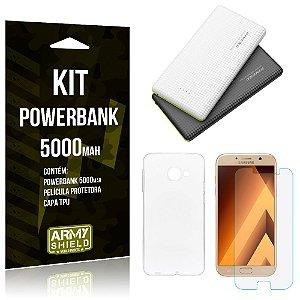 Kit Powerbank 5000 Samsung Galaxy A5 (2017) Powerbank + Película + Capa  - Armyshield