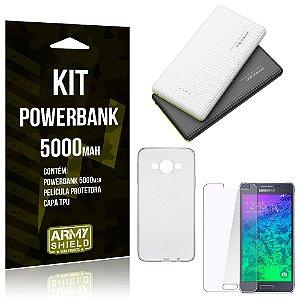 Kit Powerbank 5000 Samsung Galaxy A7 (2015) Powerbank + Película + Capa  - Armyshield