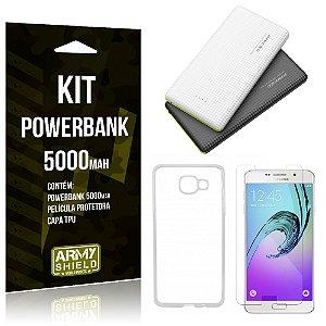 Kit Powerbank 5000 Samsung Galaxy A7 (2016) Powerbank + Película + Capa  - Armyshield