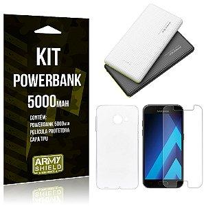 Kit Powerbank 5000 Samsung Galaxy A7 (2017) Powerbank + Película + Capa  - Armyshield