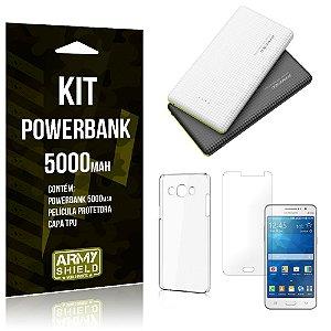 Kit Powerbank 5000 Samsung Galaxy Gran Prime Powerbank + Película + Capa  - Armyshield